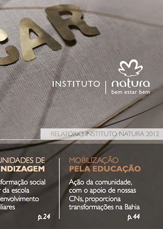 Relatório Anual do Instituto Natura 2012